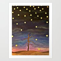 wtnv Art Prints featuring Partially Stars by Xandretha