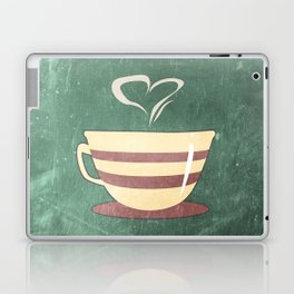 Coffee is love illustration Laptop & iPad Skin