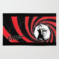 james bond Area & Throw Rugs featuring James Bond Casino Royale by Kozmanaut