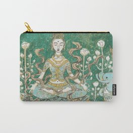 Parvati meditating with Ganesha Carry-All Pouch