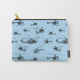 Helicopters on Sky Blue Carry-All Pouch