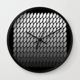 Silver Leaves Wall Clock
