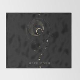 Capricorn Zodiac Constellation Throw Blanket