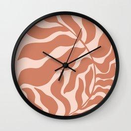 Reach | Peachy Pink & Clay Wall Clock