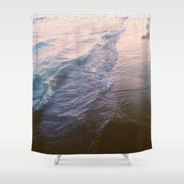 Sunset waves Shower Curtain