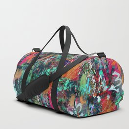 Graffiti and Paint Splatter Duffle Bag