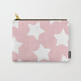 Happy Pink Star Print Carry-All Pouch
