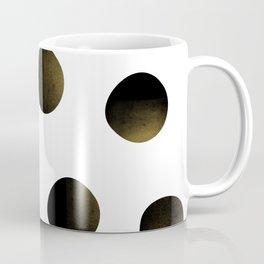 Dusted Black Polka Coffee Mug