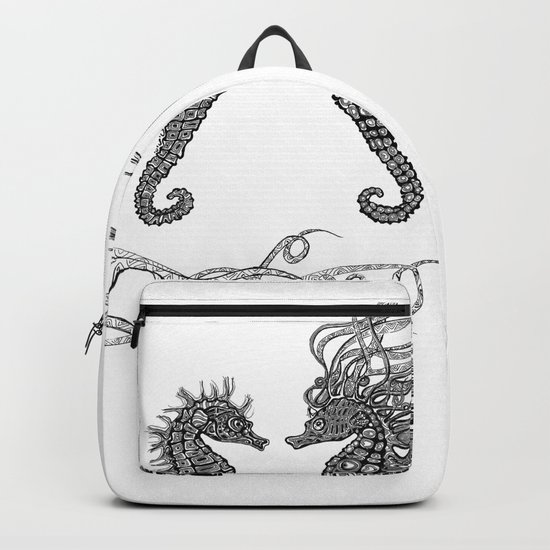 Seahorses love Backpack