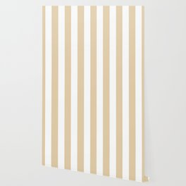Durian White pink - solid color - white vertical lines pattern Wallpaper