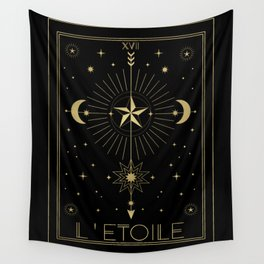 L'Etoile or The Star Tarot Gold Wall Tapestry