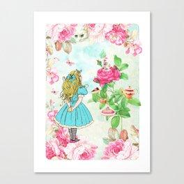 Alice in Wonderland tea party Canvas Print