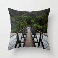 bridge Throw Pillows featuring Bridge by Michelle McConnell