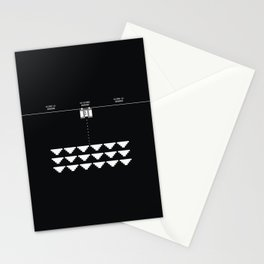 Briefs Invaders Stationery Cards