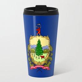 flag vermont,america,usa,Green Mountain,Vermonter, New England,Burlington,Montpelier,Rutland,Barre Travel Mug