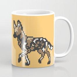 8-bit African Wild Dog Coffee Mug