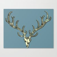 antlers Canvas Prints featuring Antlers by Rachel Russell