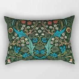 Blackthorn by William Morris, 1892 Rectangular Pillow