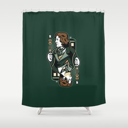 8th of Hearts Shower Curtain