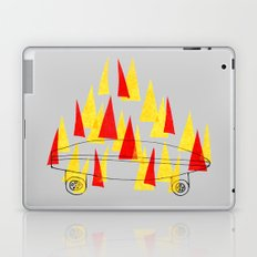 Flaming Skateboard Laptop & iPad Skin