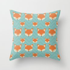 Fox Minimal Illustration Throw Pillow