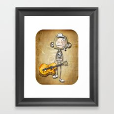 guitar chimp Framed Art Print