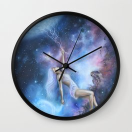 Beauty in the Ether Wall Clock