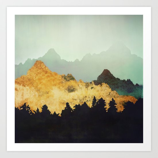 Patina Hills Art Print