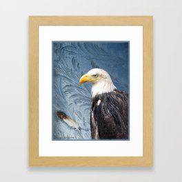 """Eagle in Alaskan Ice"" Framed Art Print"
