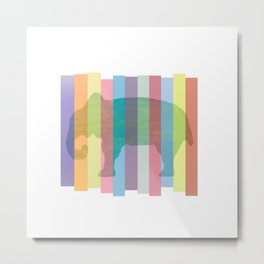 Color Elephant Metal Print