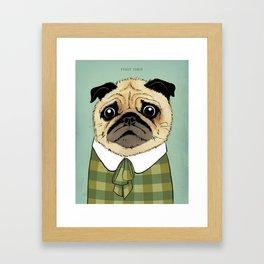 Mad Men Dogs: Puggy Olson Framed Art Print