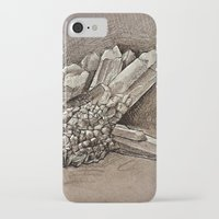 crystals iPhone & iPod Cases featuring Crystals by Werk of Art