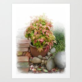 Leaves and Dew Art Print