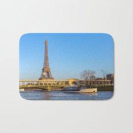 Sunset over Bir-hakeim bridge - Paris Bath Mat