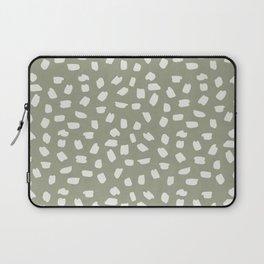 Simply Ink Splotch Lunar Gray on Green Tea Laptop Sleeve