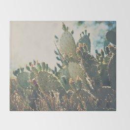 desert prickly pear cactus ... Throw Blanket