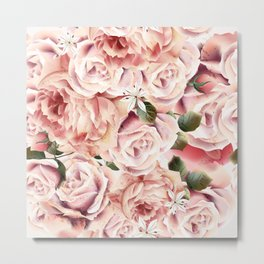 Magic rose garden Metal Print