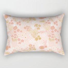 Calming Flowers And Herbs Meadow Rectangular Pillow