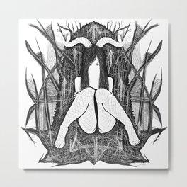 throne Metal Print