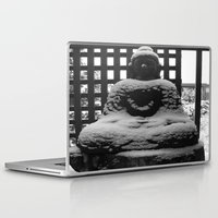 buddah Laptop & iPad Skins featuring Snowy Buddah by Nearlycanadian