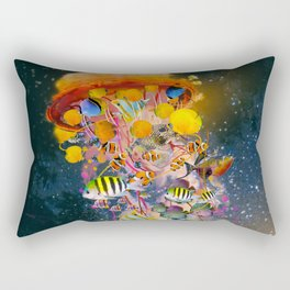 Electric Jellyfish Visting Campers Rectangular Pillow