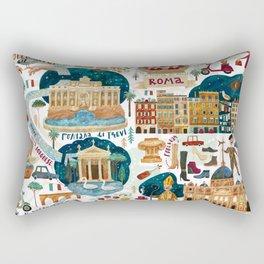 Rome map Rectangular Pillow