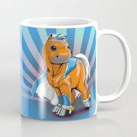 superhero Mugs featuring Superhero Pony by GumiPoni