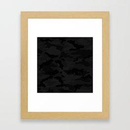 Midnight Camo Framed Art Print