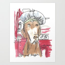 Dog Portrait Series - Sweet Trapper Art Print