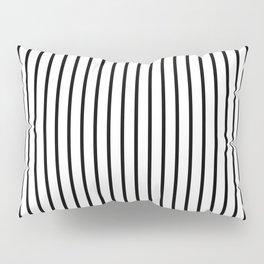 Black Pinstripe On White Pattern Pillow Sham