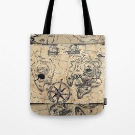 Old Nautical Map Tote Bag
