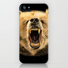 Roaring Bear iPhone Case