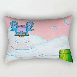 """'Valium' 12"""" x 12"""" Acrylic and Marker on Canvas 2012 Dan Gribben Rectangular Pillow"""