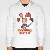 cooking Hoodies featuring Cooking Hannibal by Sabrina Cotugno